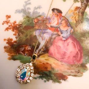 Jewelry - Beautiful Aurora Borealis Crystal Pendant!